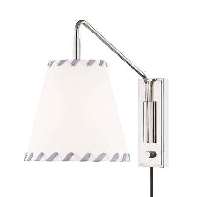 Hannah 1-Light Polished Nickel Wall Sconce