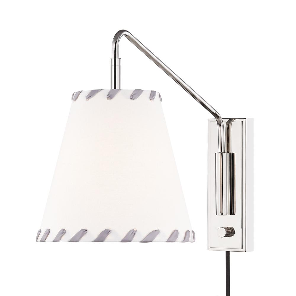 HUDSON VALLEY LIGHTING Hannah 1-Light Polished Nickel Wall Sconce was $330.0 now $198.0 (40.0% off)
