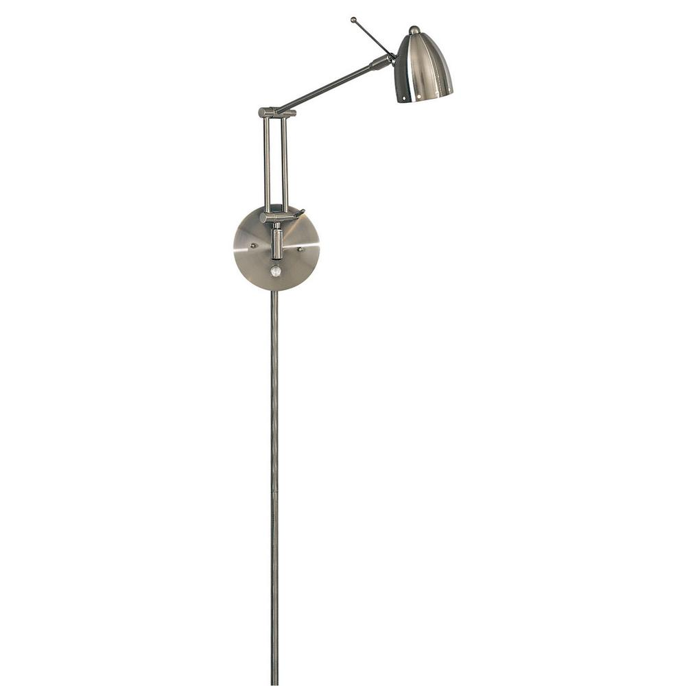George Kovacs George s Reading Room 1-Light Brushed Nickel Task Wall Sconce-P254-084 - The Home ...