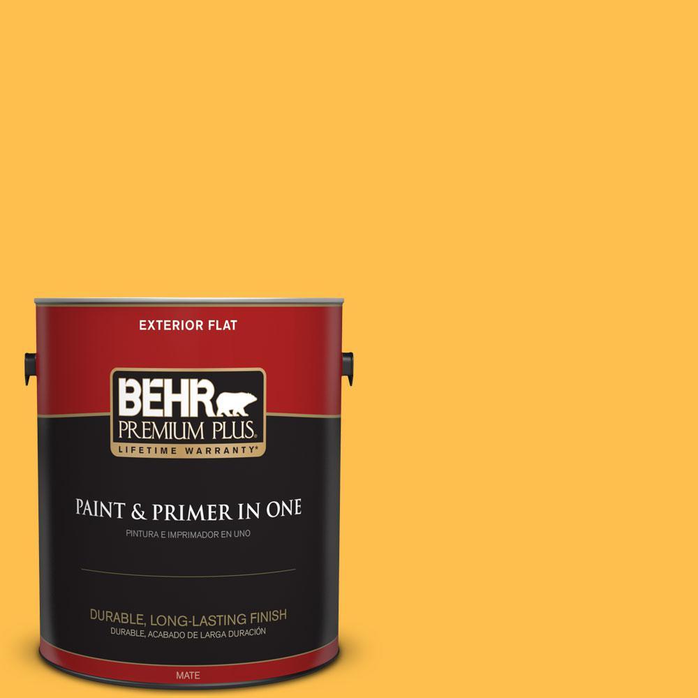 BEHR Premium Plus 1-gal. #310B-6 Twenty Carat Flat Exterior Paint