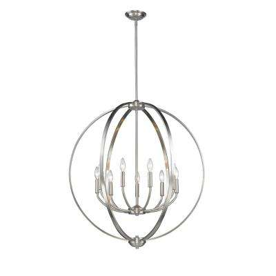 Colson PW 9-Light Pewter Chandelier