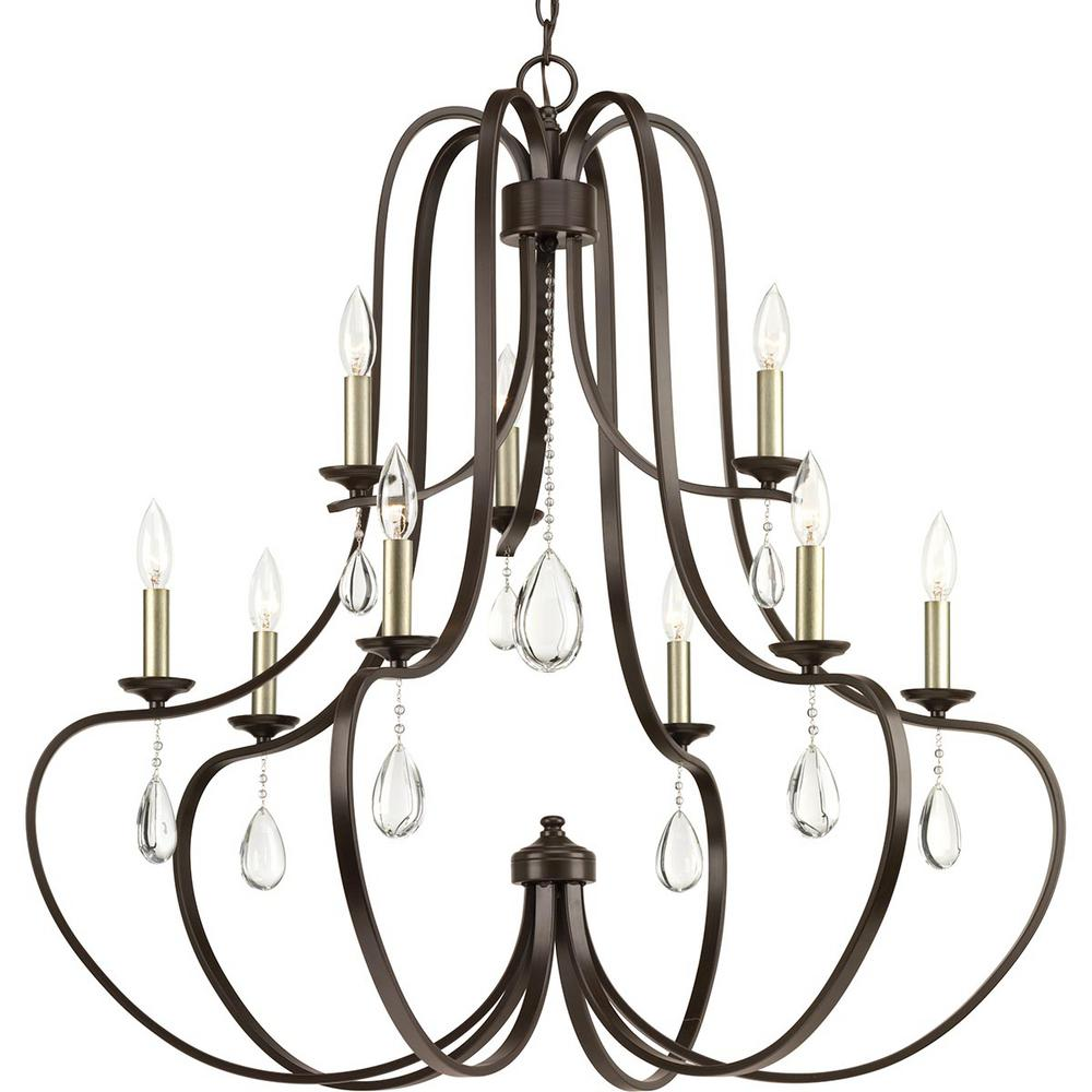 Progress Lighting Anjoux Collection 9-Light Antique Bronze