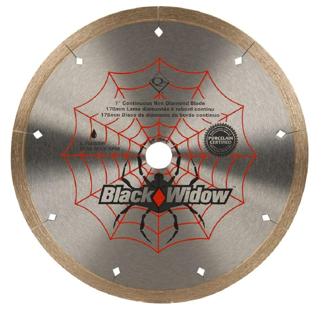 7 in. Black Widow Micro-Segmented Diamond Blade for Porcelain and Ceramic