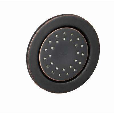 WaterTile 1-Way Round Body Sprayer in Oil Rubbed Bronze