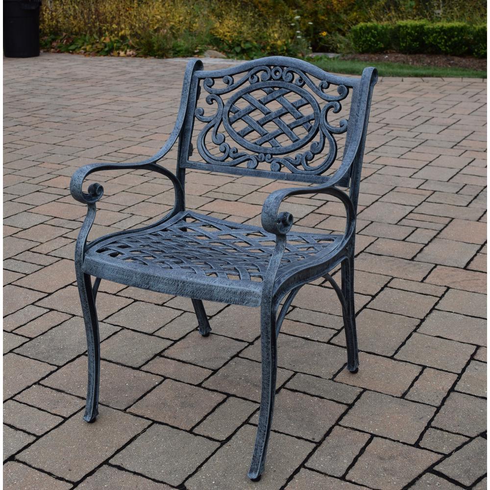 Hampton Bay Nantucket Rocking Metal Outdoor Dining Chair