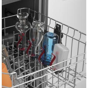 GE 24 in  Top Control Built-In Tall Tub Dishwasher in Slate with Steam  Prewash, Fingerprint Resistant, 48 dBA