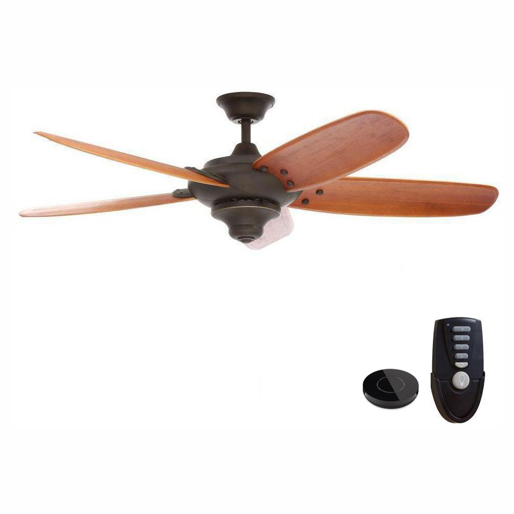 Home Decorators Collection Altura 56 in. Oil Rubbed Bronze Ceiling Fan Works with Google Assistant and Alexa