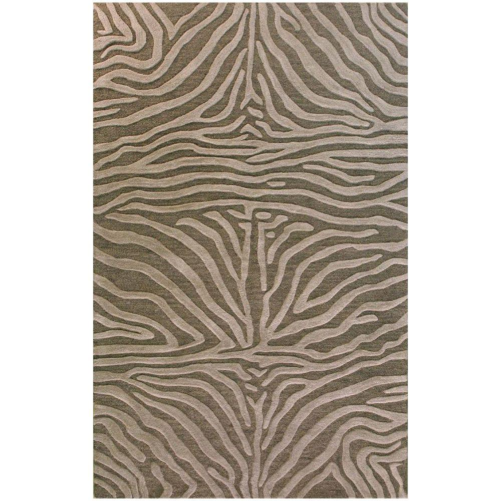 BASHIAN Verona Collection The Wild Grey 8 ft. 6 in. x 11 ft. 6 in. Area Rug