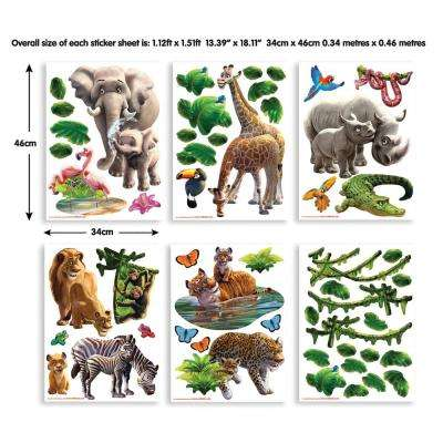Multi-Color Jungle Adventure Wall Stickers