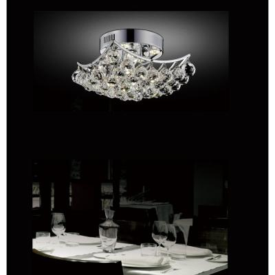 Queen 4-Light Chrome Semi-Flush Mount