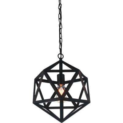Dia 1-Light Black Chandelier