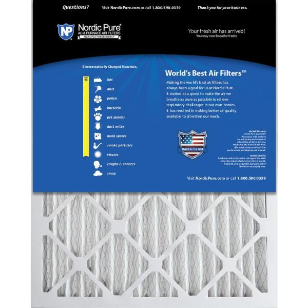 Nordic Pure 17/_1//4x29/_1//4x1 Exact MERV 12 Pleated AC Furnace Air Filters 4 Pack
