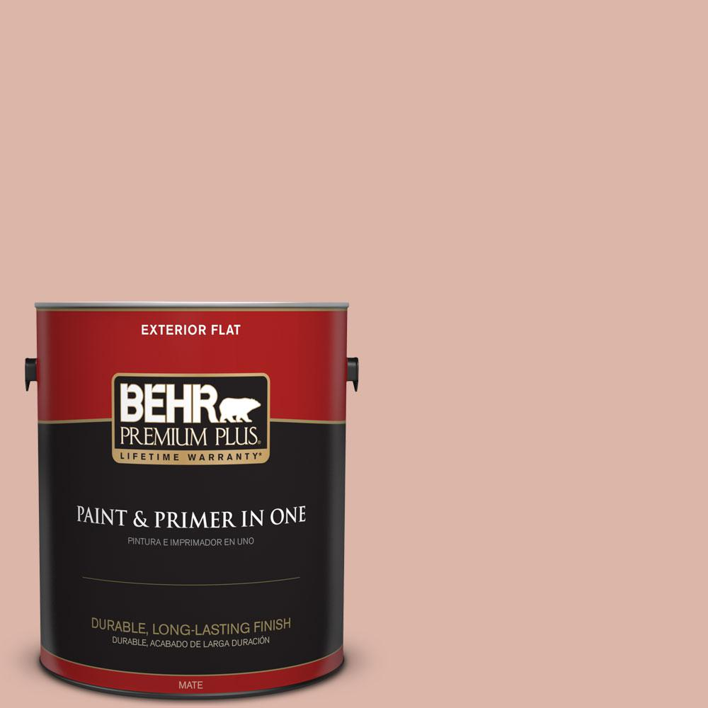 BEHR Premium Plus 1-gal. #220E-3 Melted Ice Cream Flat Exterior Paint