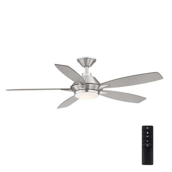 Wilmington52 in. LED Brushed Nickel Ceiling Fan with Light