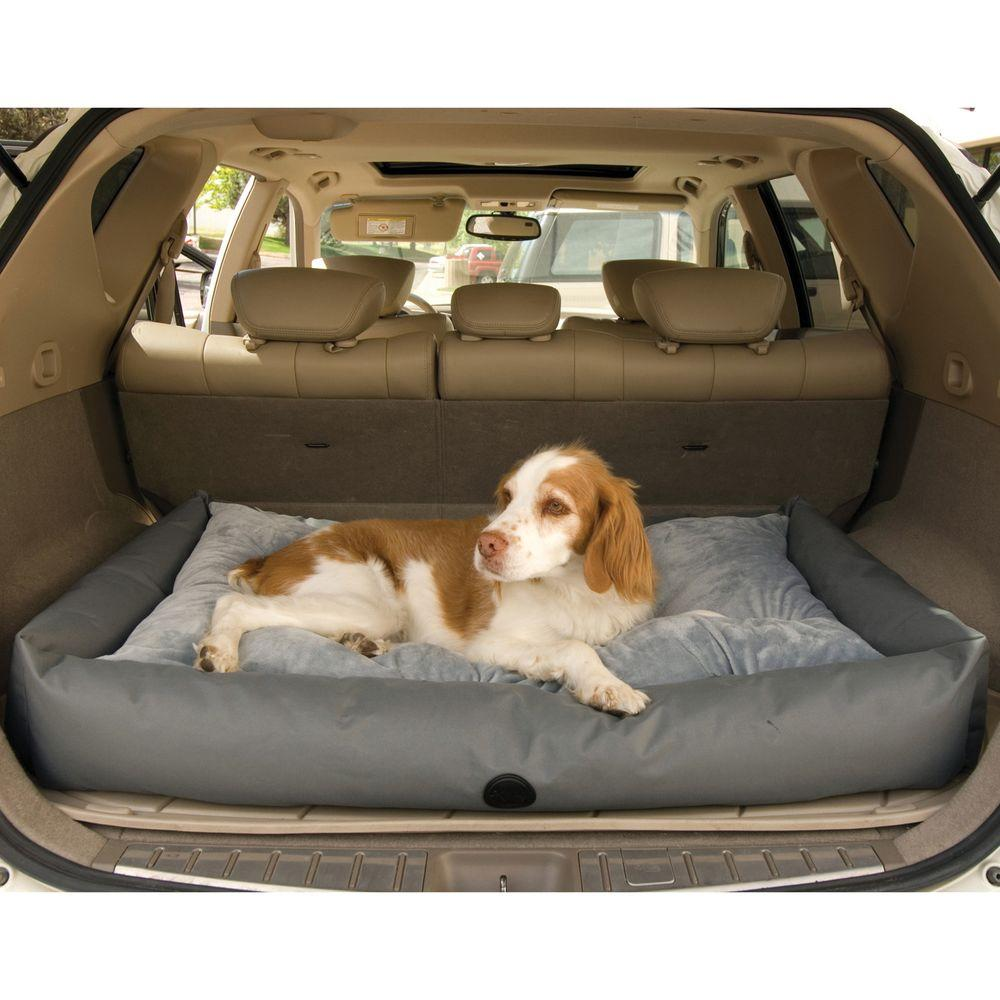 Travel Dog Bed >> K H Pet Products Travel Suv Large Gray Pet Bed 100213937 The Home