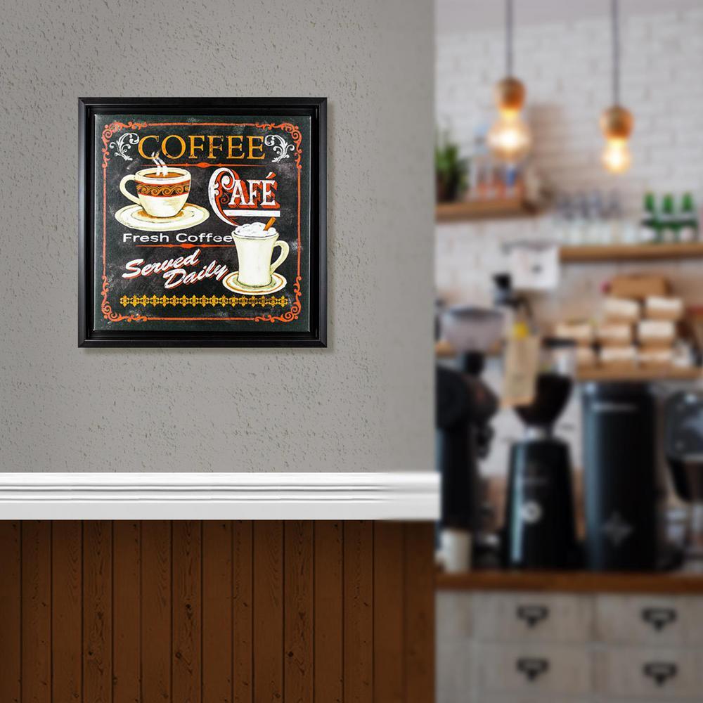 Fresh Coffee Caf Canvas Framed Painting Print Wall Art