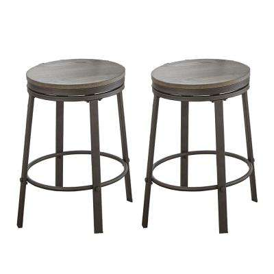 Portland Grey 24 in. Counter Stool (Set of 2)