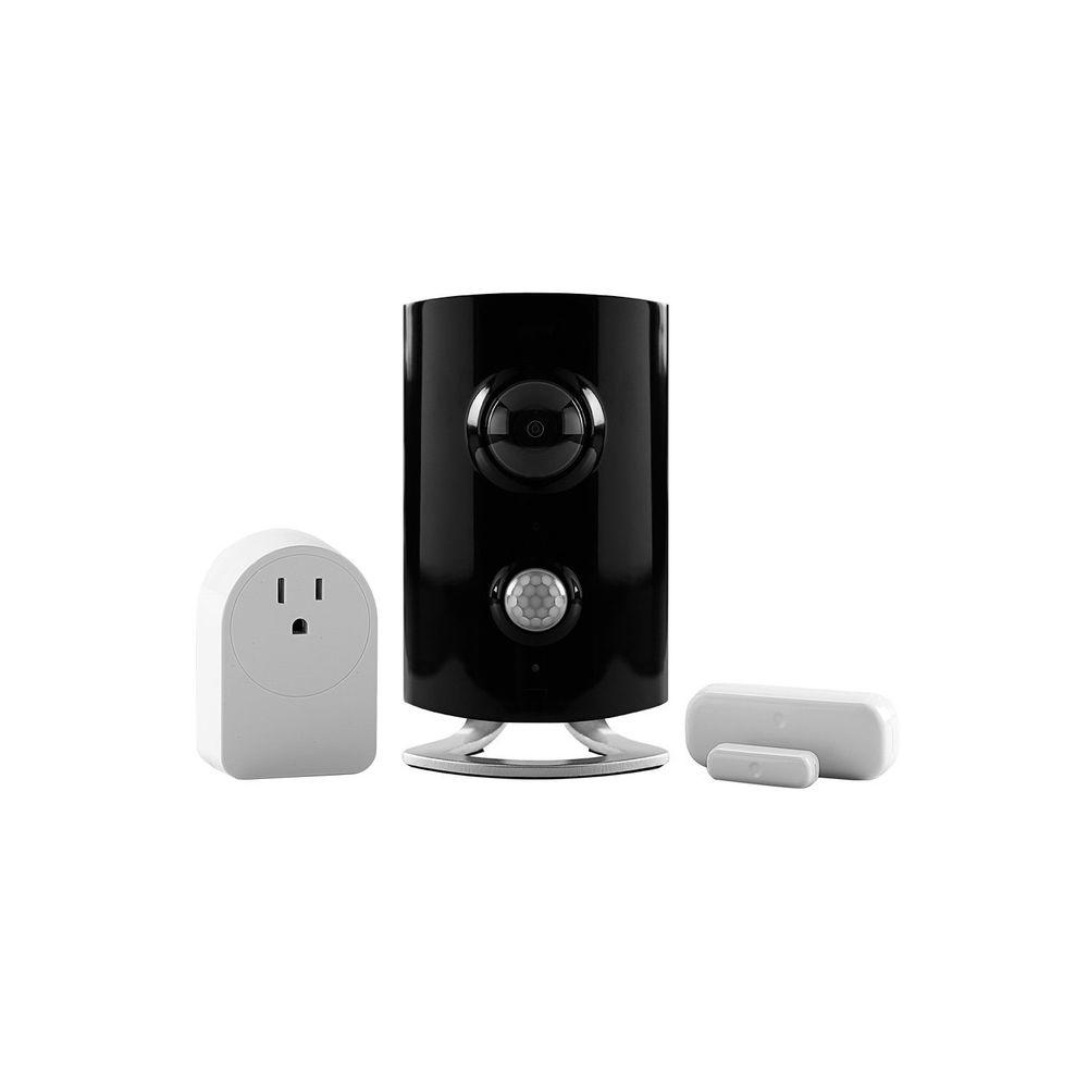 iControl Networks Piper classic All-in-One Security System with Video Monitoring Camera - Black