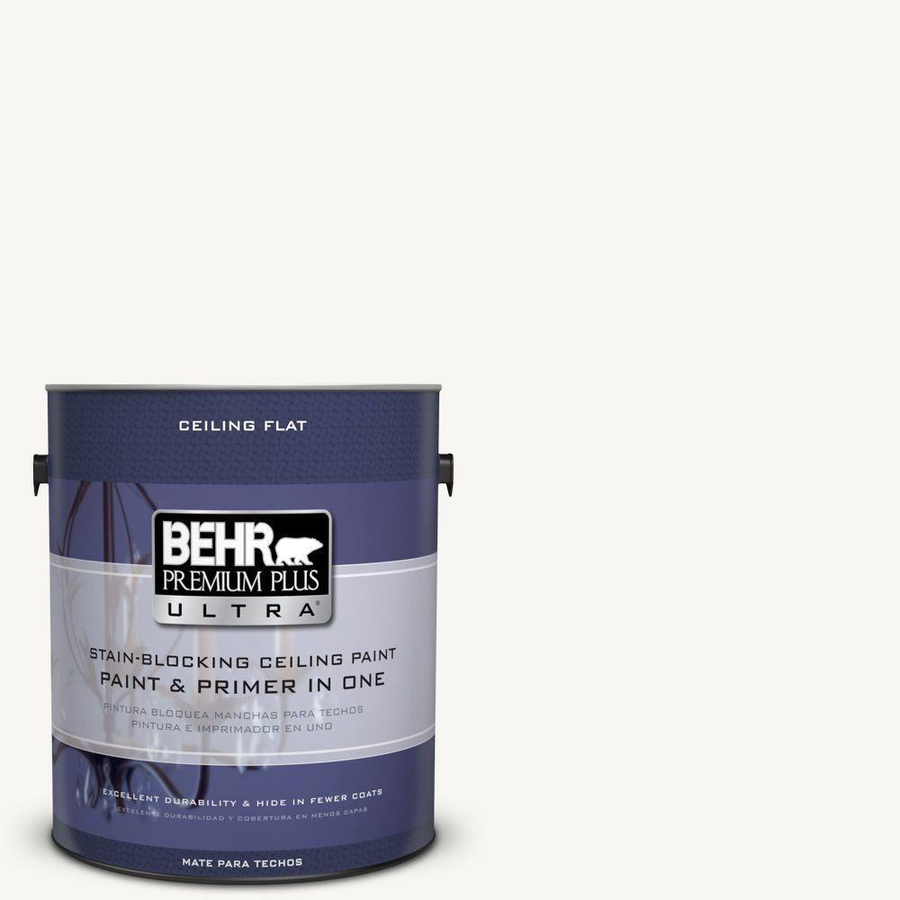 BEHR Premium Plus Ultra 1-Gal. No.UL260-14 Ceiling Tinted to Ultra Pure White Interior Paint