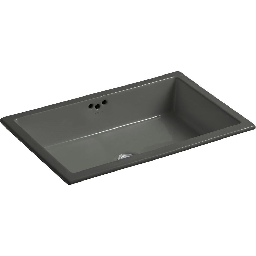 Kohler Kathryn Vitreous China Undermount Bathroom Sink In Cashmere With Overflow Drain K 2297 K4