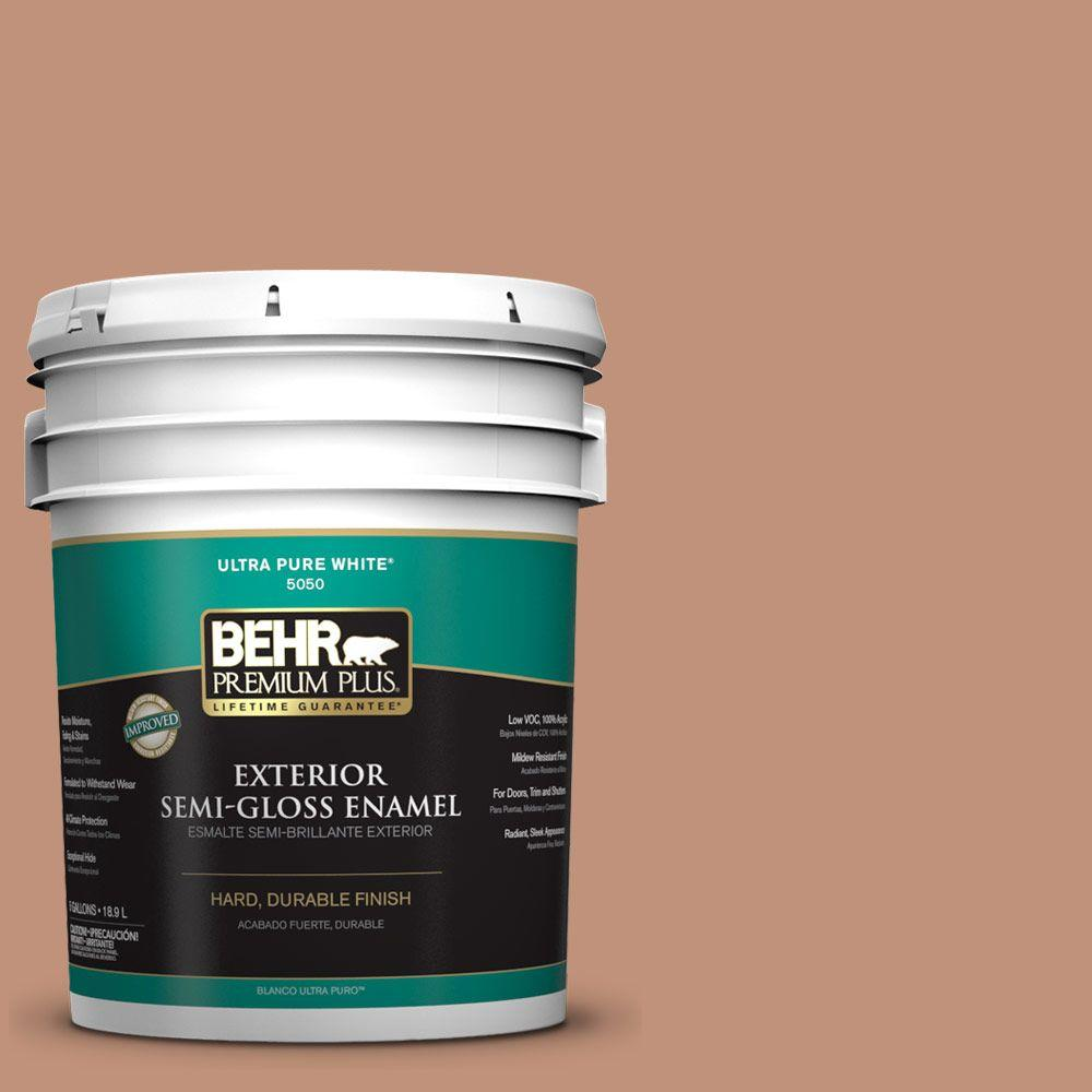 5-gal. #ICC-101 Florentine Clay Semi-Gloss Enamel Exterior Paint