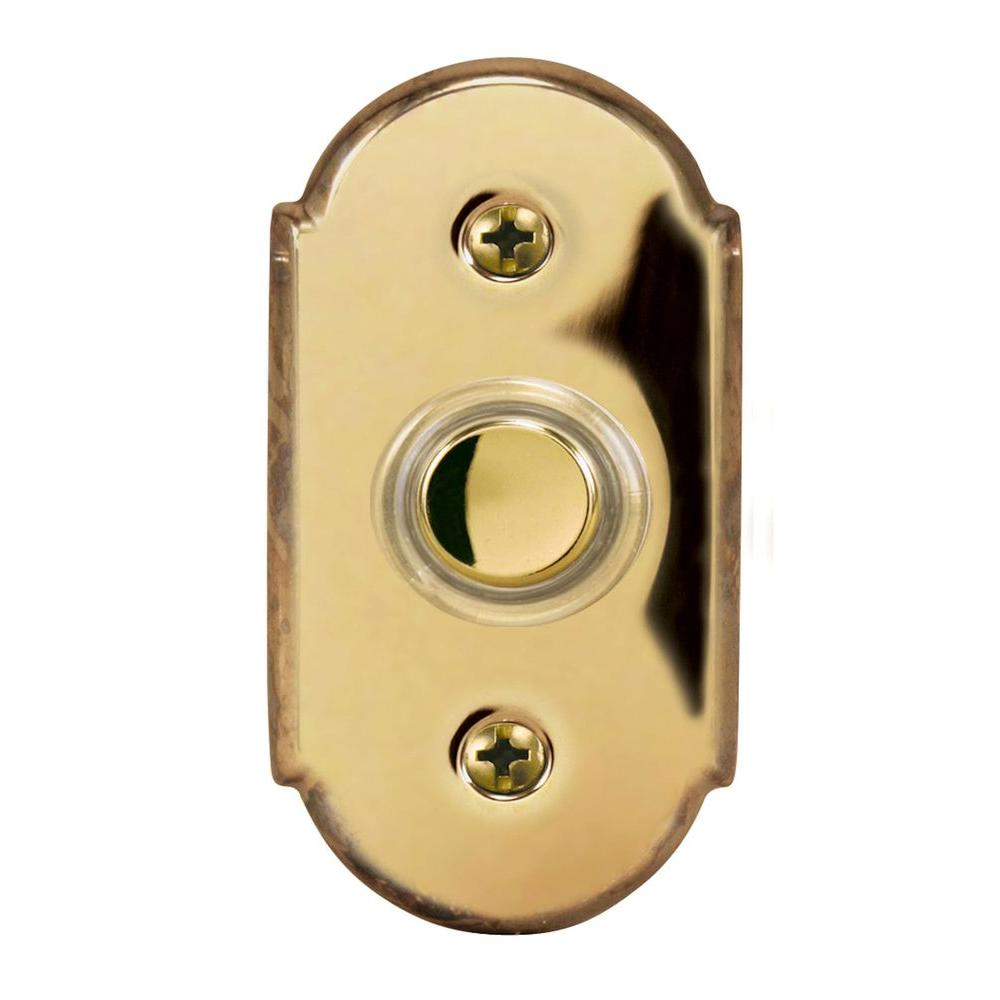 Heath Zenith Wired Halo-Lighted Antique Copper Finish Push Button