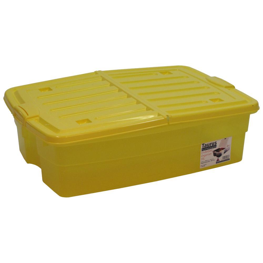 10 Gal. Underbed Storage Organizer Tote in Yellow