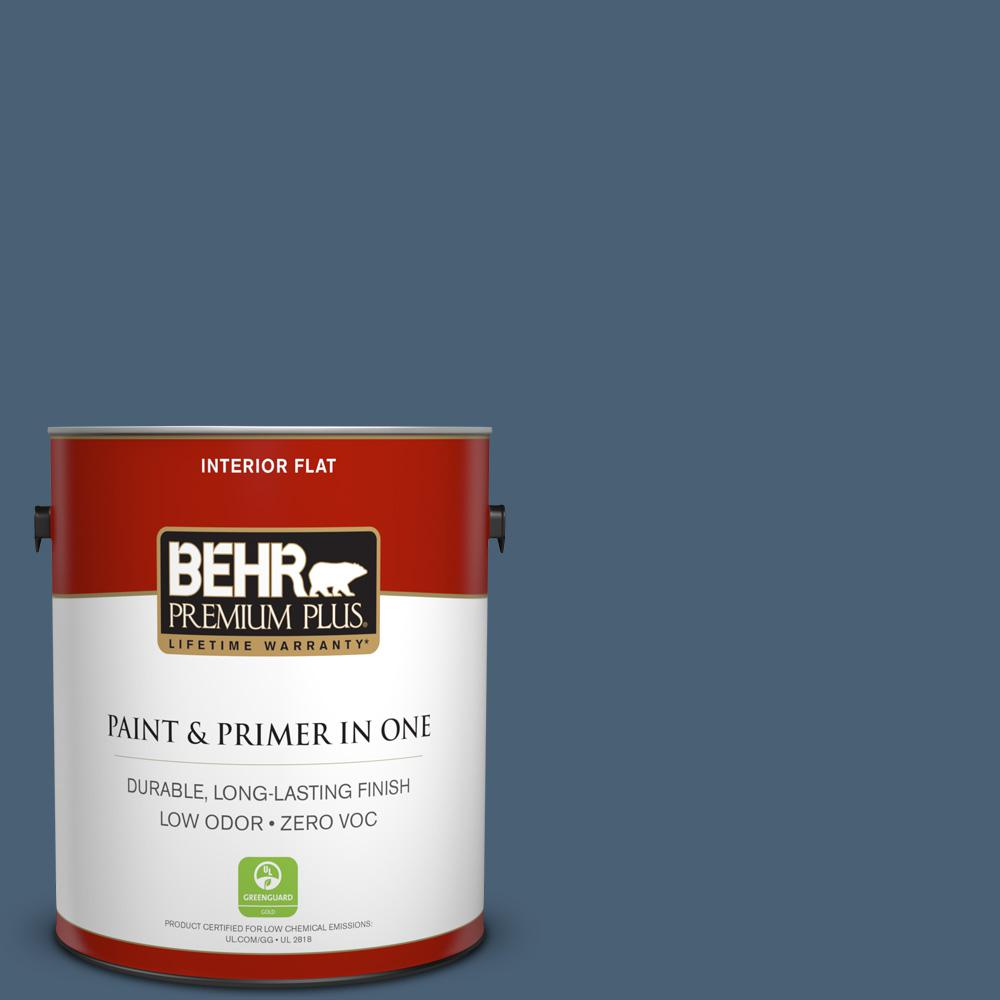 1 gal. #PPU14-19 English Channel Zero VOC Flat Interior Paint