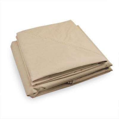 RipLock 350 Beige Replacement Canopy Top and Side Mosquito Netting Set for 10 ft. x 10 ft. Garden House with Awning