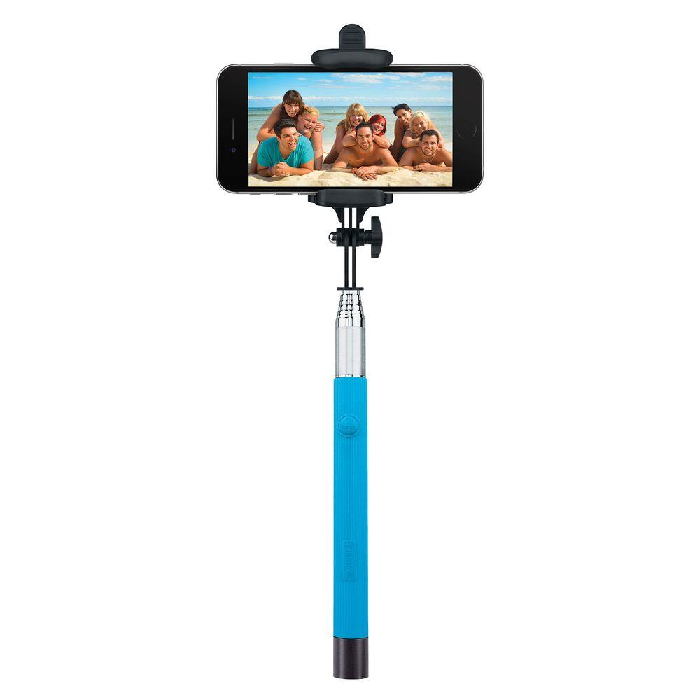 Merkury Innovations Foldable Bluetooth Selfie Stick Blue