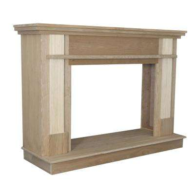 56-1/2 in. x 40-1/2 in. Unfinished Wood Fireplace Mantle