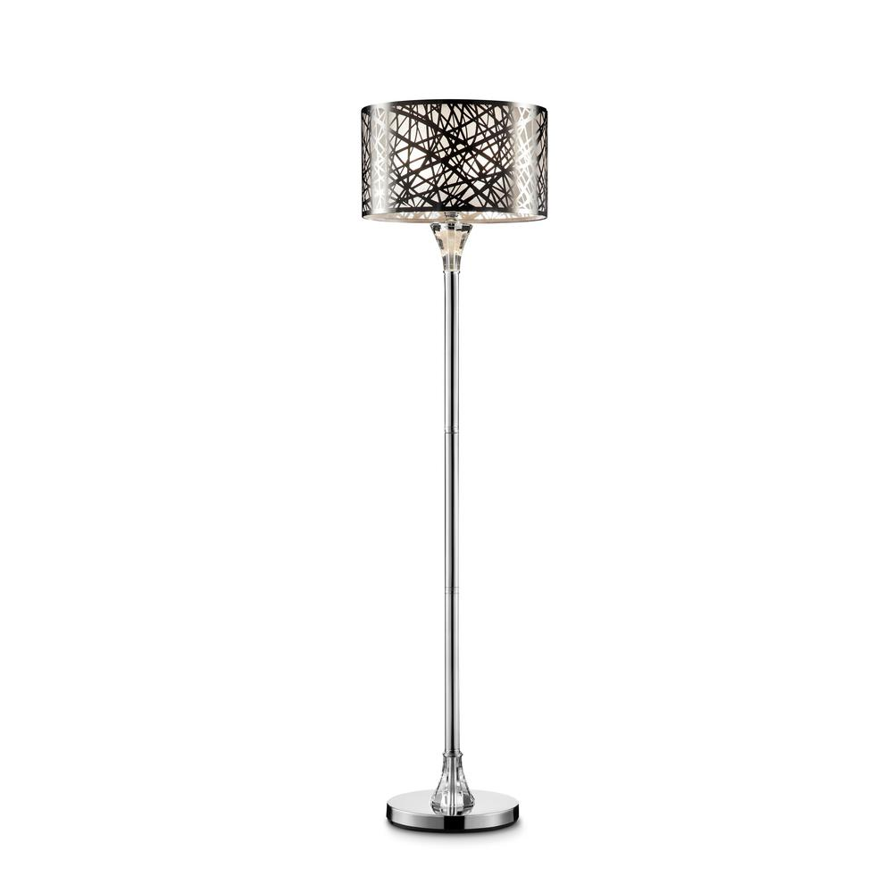Pewter floor lamps lamps the home depot array crystal silver floor lamp aloadofball Images