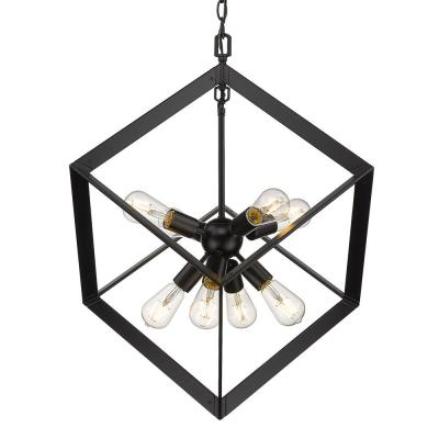 Architect 8-Light Black Pendant
