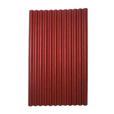 6 ft. 7 in. x 4 ft. Asphalt Corrugated Roof Panel in Red