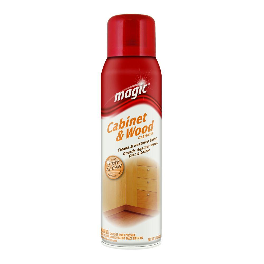Magic 17 oz. Cabinet and Wood Aerosol Cleaner with Stay Clean ...