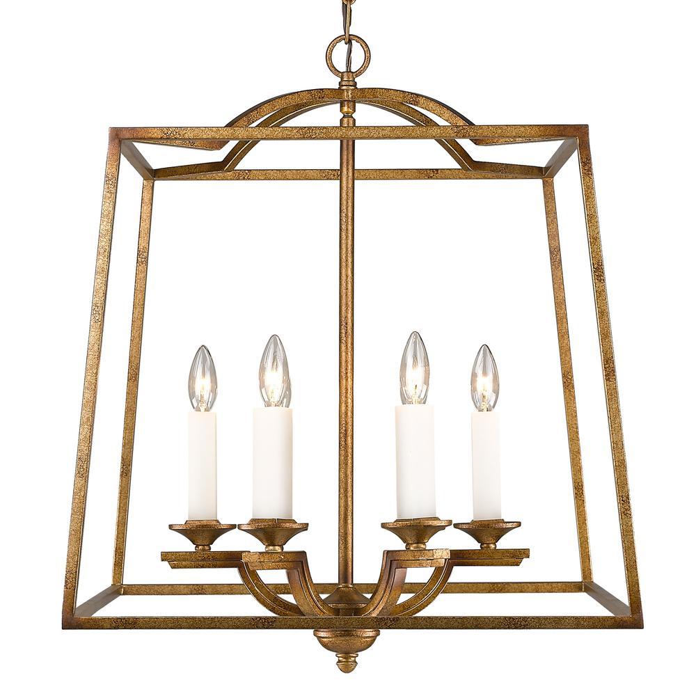 Athena 6-Light Grecian Gold Pendant