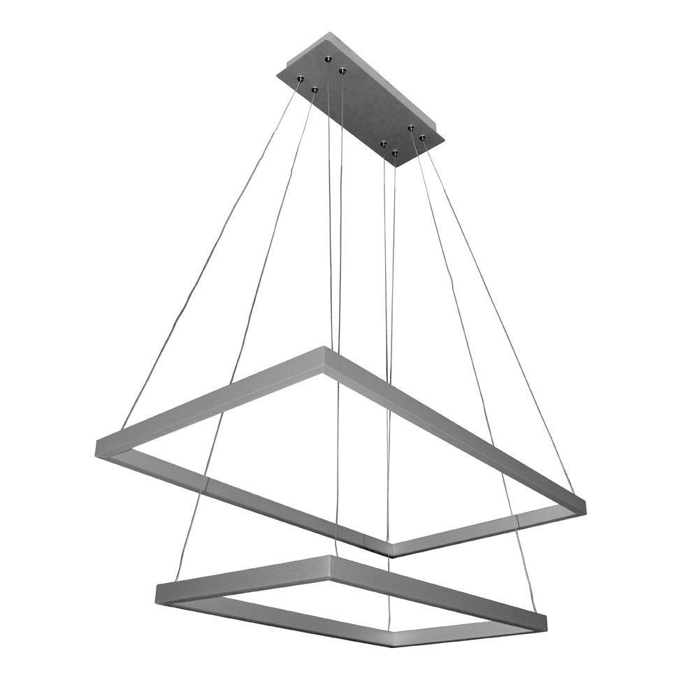vonn lighting atria duo 78watt silver integrated led adjustable modern 2tier chandelier