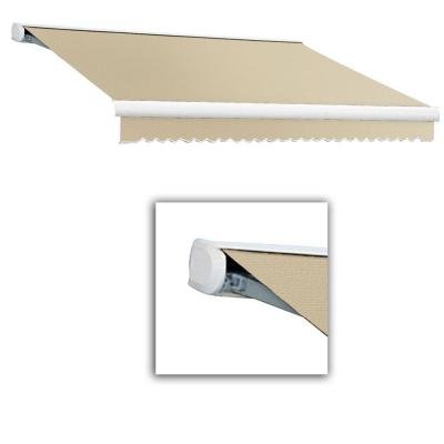 14 ft. Key West Full Cassette Manual Retractable Awning (120 in. Projection) Tan