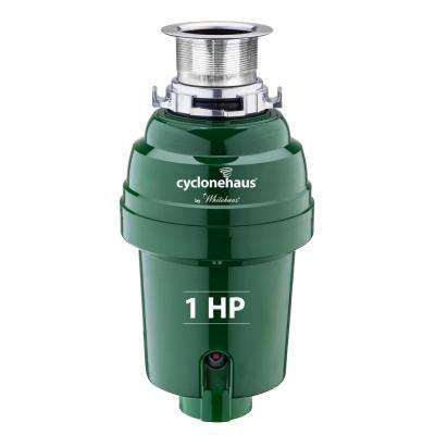 Cyclonehaus 1 HP Continuous Feed Garbage Disposal in Polished Chrome
