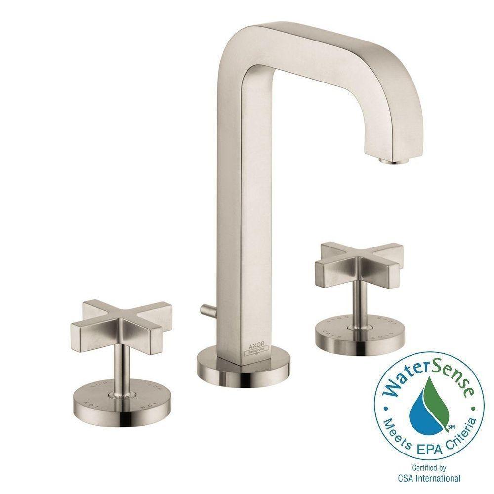 Citterio 8 in. Widespread 2-Handle Mid-Arc Bathroom Faucet in Brushed Nickel