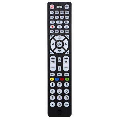 8 Device Ultra Pro Universal Remote Control, Brushed Black