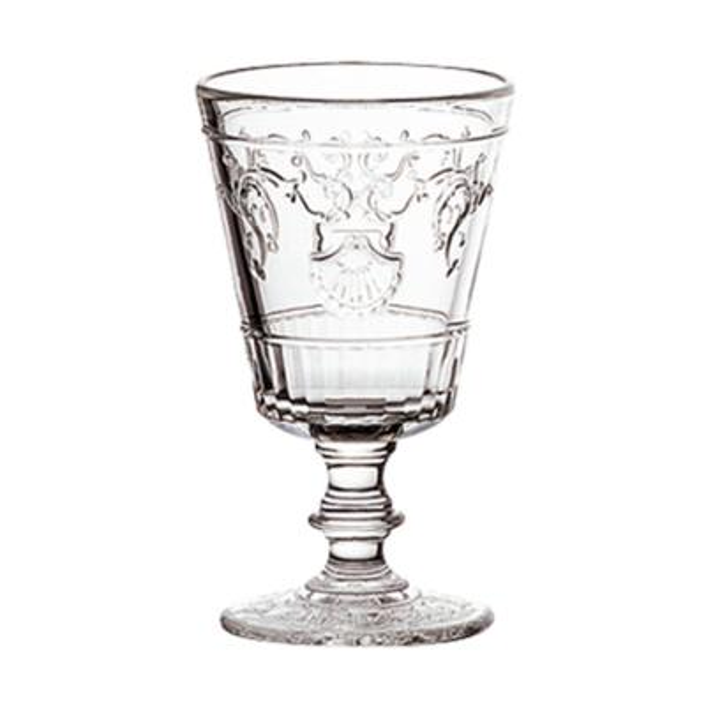 Versailles 7 oz. Shell/Flower Design Wine Glass (Set of 6)