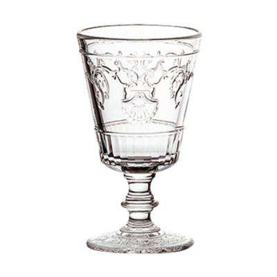 Versailles 7 oz. Shell/Flower Design Wine Glass (Set of 6)