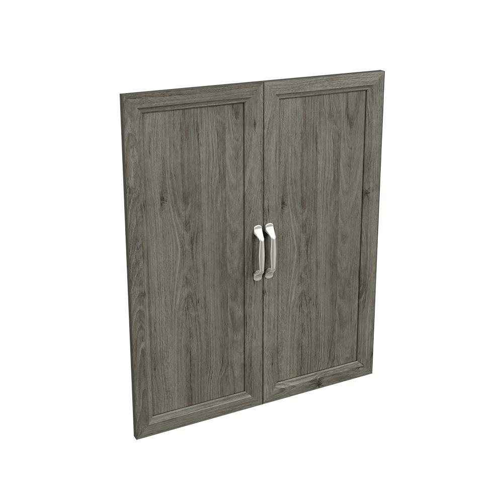 Style+ 25 in. W Traditional Coastal Teak Closet Door Kit