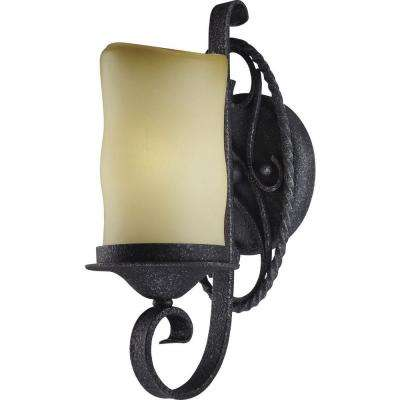 Sevilla 1-Light Antique Iron Interior Wall Sconce
