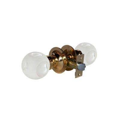 Abc Frosted Crystal Brass Passive Door Knob with LED Mixing Lighting Touch Activated