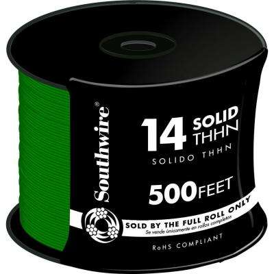 500 ft. 14 Green Solid CU THHN Wire