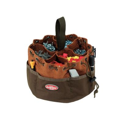 10 in. Parachute Parts Tool Bag in Brown