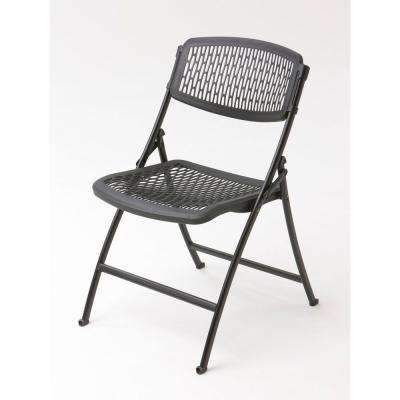 Black Plastic Seat Foldable Folding Chair