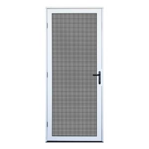 White Surface Mount Outswing Security Door With Meshtec Screen. Unique Home  Designs ...